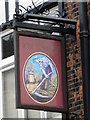 TM5593 : Hanging sign for 'The Wheatsheaf' public house by Adrian S Pye