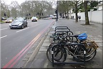 TQ2780 : Bikes parked beside Bayswater Road by David Lally