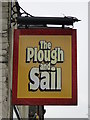 TM5492 : Hanging sign for the 'Plough and sail' public house by Adrian S Pye