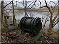 SK5803 : Old machinery next to the River Soar by Mat Fascione