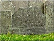 SK9136 : Belvoir angel headstone, St Wulfram's churchyard, Grantham by Alan Murray-Rust