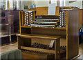 SK9769 : Organ console, St Katherine's church, Lincoln by Julian P Guffogg