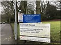 SJ8546 : Newcastle-under-Lyme: Cornwall House, Sandy Lane - signs by Jonathan Hutchins
