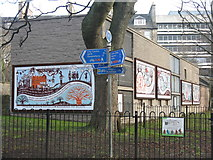 NT2572 : Murals on the Meadows by M J Richardson