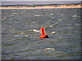 SD2304 : Liverpool Bay, Red Marker Buoy (C2) in Crosby Channel, off Taylor's Bank by David Dixon