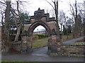 SJ8546 : Newcastle-under-Lyme: St George's Church - churchyard archway by Jonathan Hutchins