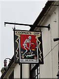 TM3863 : Hanging sign for 'The Cooper's Dip' public house by Adrian S Pye