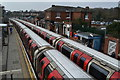 TL4601 : Central Line trains at Epping station by David Martin