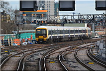 TQ3379 : Train leaving London Bridge station by David Martin