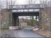 NT1784 : Railway bridge by Moss Cottages by M J Richardson