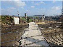 TQ5365 : Railway foot crossing near Eynsford by Marathon