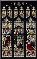 TF6119 : Stained glass window, South aisle, King's Lynn Minster by Julian P Guffogg