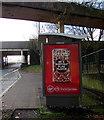 ST3188 : Virgin Mobile advert on a Malpas Road bus shelter, Crindau, Newport by Jaggery