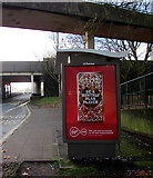 ST3188 : Virgin Mobile advert on a Malpas Road bus shelter, Crindau, Newport by Jaggery