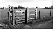 TG2202 : Footpath gate into a pasture by Evelyn Simak