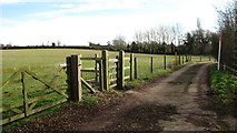 TG2202 : Access road to the sewage works by Evelyn Simak
