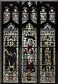TF6119 : Stained glass window, north aisle, King's Lynn Minster by Julian P Guffogg