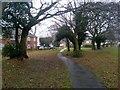 SZ0794 : Ensbury Park: on footpath N28 by Chris Downer