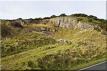 SH7783 : A small quarry above the Penmynydd farms by Bill Boaden