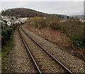 SS8689 : Railway from Garth towards Ewenny Road, Maesteg by Jaggery