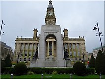 SD7109 : Bolton town hall and war memorial by Philip Platt
