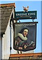 SJ7892 : Sign of the King's Ransom, Sale by Gerald England
