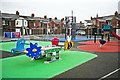 NY4055 : Broad Street play area by Rose and Trev Clough
