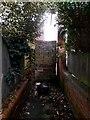 SZ1191 : Boscombe: a pile of blocks blocks former footpath F03 by Chris Downer