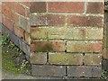 SK5836 : Bench mark, Malvern Road, West Bridgford by Alan Murray-Rust