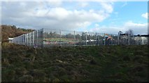 NS3977 : Boundary fence of construction site at Kilmalid by Lairich Rig