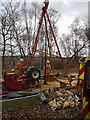 SU1918 : Ground investigation work by Structural Soils Ltd by Peter Facey