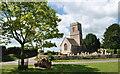 ST8380 : All Saints Church & Village Green, Littleton Drew, Wiltshire 2015 by Ray Bird