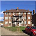 TL0622 : Rear of Nos 14-19 Dunstable Court, Dunstable Road, Luton by Robin Stott