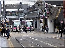 SP0686 : Stephenson Street trams, Birmingham by Chris Allen