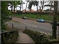 SZ1292 : Pokesdown: down the steps on footpath J09 by Chris Downer