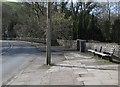 SS8589 : Two roadside benches, Llwydarth Road, Maesteg by Jaggery