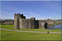 ST1587 : Caerphilly Castle. by Mel hartshorn
