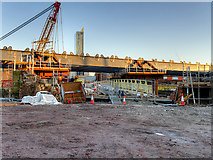 SJ8297 : Ordsall Chord Construction Site (Dec 2016) by David Dixon