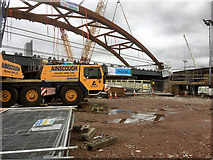 SJ8297 : Ordsall Chord Construction Site (Feb 2017) by David Dixon