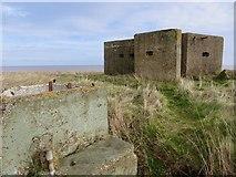TA3624 : Pillbox near Holmpton by Paul Harrop