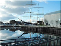 NS5565 : The Tall Ship beside Riverside Museum by Richard Sutcliffe
