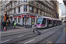 SP0686 : Midland Metro tram on Stephenson Street by Bill Boaden
