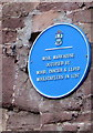 SO5924 : Blue plaque on a former wool warehouse, Ross-on-Wye by Jaggery