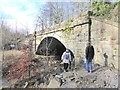 NY8767 : Railway arch at the mouth of Meggie's Dene Burn by Oliver Dixon