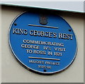 SO5924 : King George's Rest blue plaque, High Street, Ross-on-Wye by Jaggery