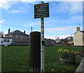 SS8178 : Officialese on a village green dog fouling notice, Nottage by Jaggery