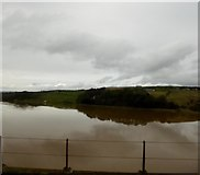 NT9953 : The River Tweed from a Virgin East Coast train by Steve  Fareham