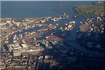 NJ9505 : Aberdeen harbour from the air by Mike Pennington