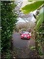 SZ0895 : Northbourne: footpath O09 arrives on Georgian Way by Chris Downer