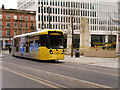 SJ8398 : Metrolink Second City Crossing, Manchester Cenotaph by David Dixon
